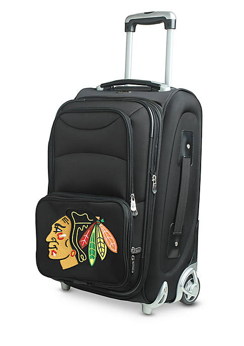 Denco NHL Chicago Blackhawks Luggage Carry-On Rolling Softside
