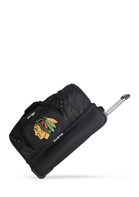 Denco NHL Chicago Blackhawks Wheeled Duffel Nylon Bag