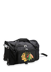 NHL Chicago Blackhawks Wheeled Duffel Nylon Bag