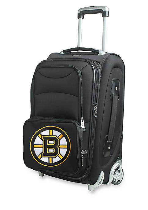 Denco NHL Boston Bruins Luggage Carry-On Rolling Softside