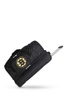 NHL Boston Bruins Wheeled Duffel Nylon Bag