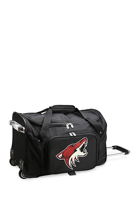 NHL Phoenix Coyotes Wheeled Duffel Nylon Bag