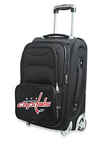 Denco NHL Washington Capitals Luggage Carry-On Rolling Softside Nylon