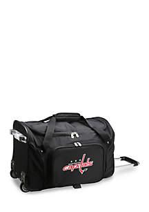 NHL Washington Capitals Wheeled Duffel Nylon Bag