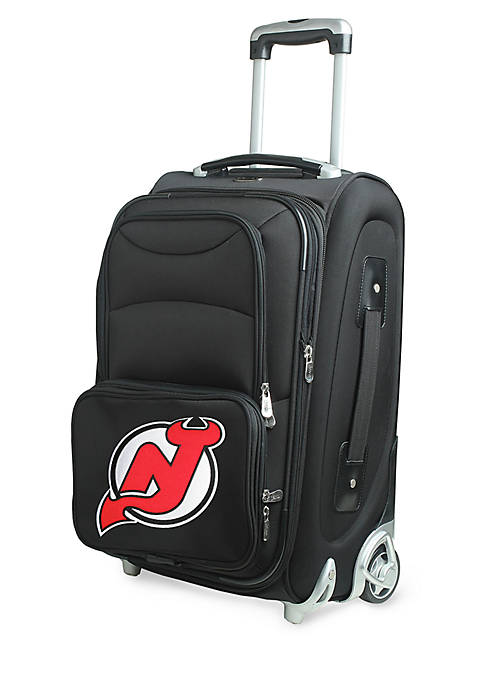 NHL New Jersey Devils Luggage Carry-On Rolling Softside Nylon