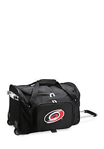 NHL Carolina Hurricanes Wheeled Duffel Nylon Bag in Black