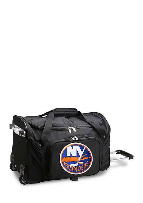 NHL New York Islanders 22-in. Wheeled Duffel Nylon Bag in Black