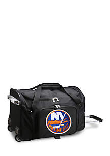 Denco NHL New York Islanders 22-in. Wheeled Duffel Nylon Bag in Black