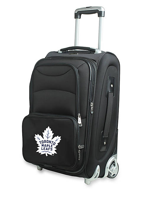 NHL Toronto Maple Leafs  Luggage Carry-On Rolling Softside Nylon in Black