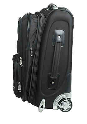 ... Denco NHL Toronto Maple Leafs Luggage Carry-On Rolling Softside Nylon  in Black 6b9c66f99