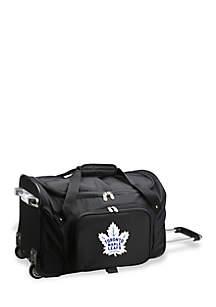 NHL Toronto Maple Leafs 22-in. Wheeled Duffel Nylon Bag