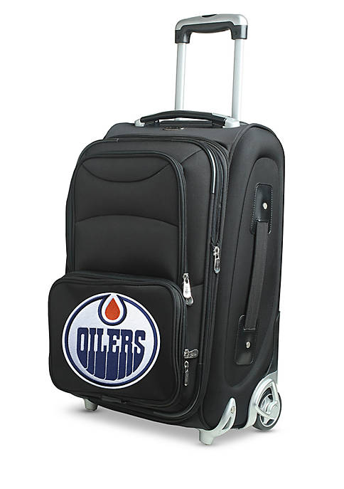 Denco NHL Edmonton Oilers Luggage Carry-On 21-i.n Rolling