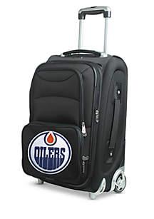 NHL Edmonton Oilers Luggage Carry-On 21-i.n Rolling Softside Nylon in Black