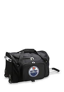 NHL Edmonton Oilers 22-in. Wheeled Duffel Nylon Bag in Black