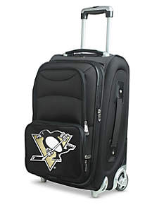 NHL Pittsburgh Penguins Luggage Carry-On 21-in. Rolling Softside Nylon in Black