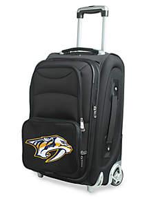 NHL Nashville Predators  Luggage Carry-On Rolling Softside Nylon in Black