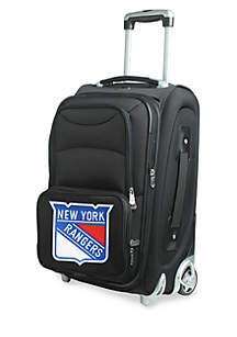 NHL New York Rangers  Luggage Carry-On Rolling Softside Nylon in Black