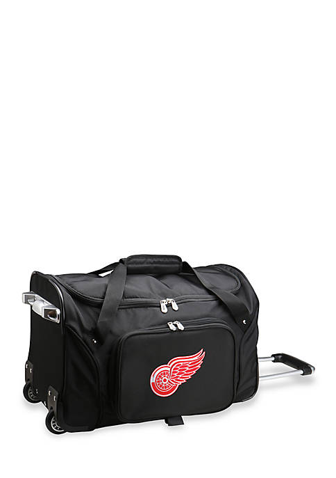 Denco NHL Detroit Red Wings 22in Wheeled Duffel