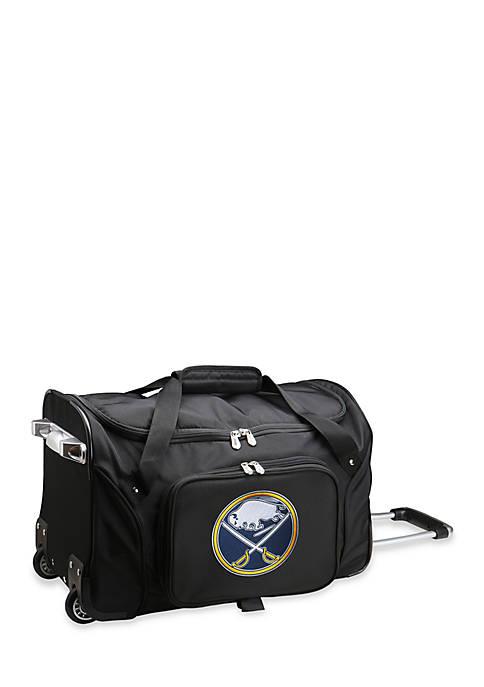 Denco NHL Buffalo Sabres Wheeled Duffel Nylon Bag