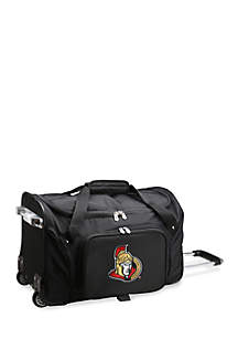 NHL Ottawa Senators Wheeled Duffel Nylon Bag