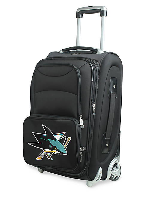 NHL San Jose Sharks  Luggage Carry-On Rolling Softside Nylon