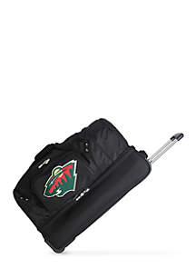 NHL Minnesota Wild 27-in. Wheeled Duffel Nylon bag in Black