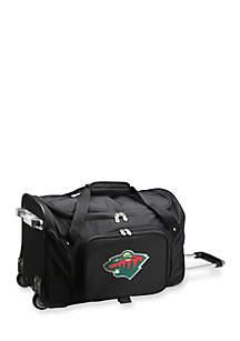 NHL Minnesota Wild 22-in. Wheeled Duffel Nylon Bag