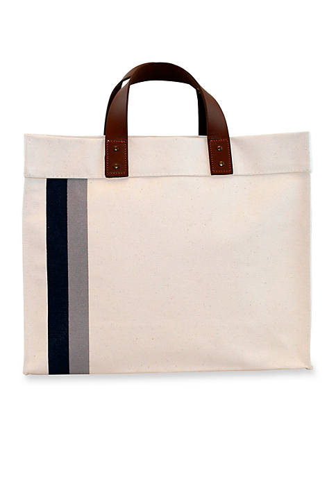 CB STATION Small Square Striped Tote