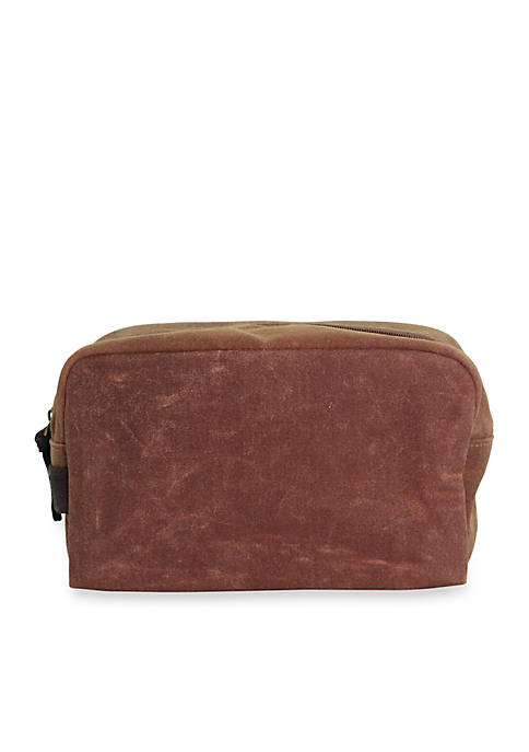 Waxed Canvas Plastic Lined Travel Kit
