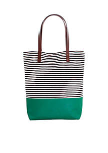 Seaport Stripes Dipped Tote