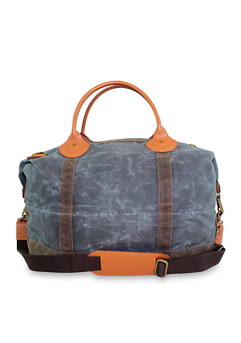 CB STATION Waxed Canvas Weekender