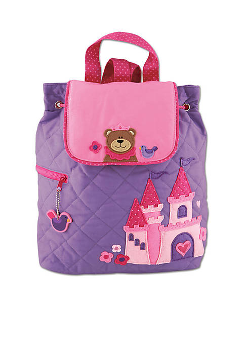 Stephen Joseph Quilted Backpack, Princess Bear
