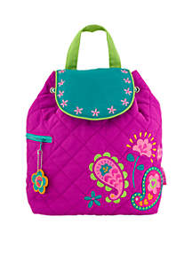 Quilted Paisley Backpack