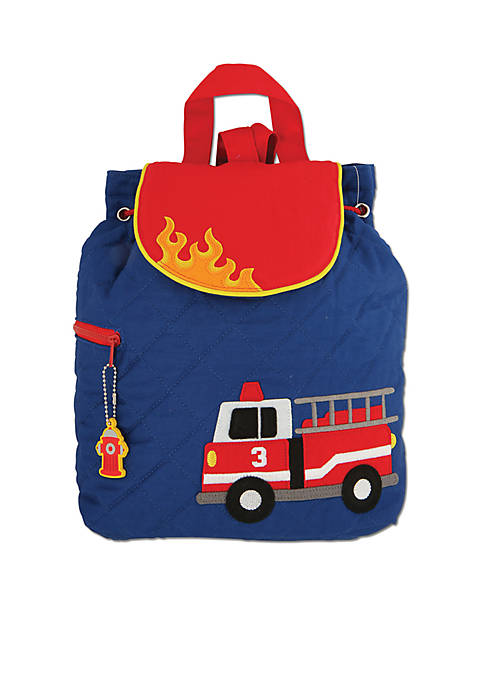 Quilted Backpack, Firetruck