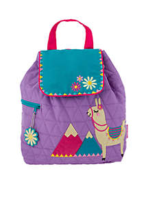 Quilted Llama Backpack