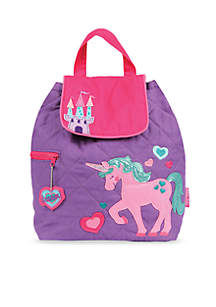 Stephen Joseph Quilted Backpack, Unicorn
