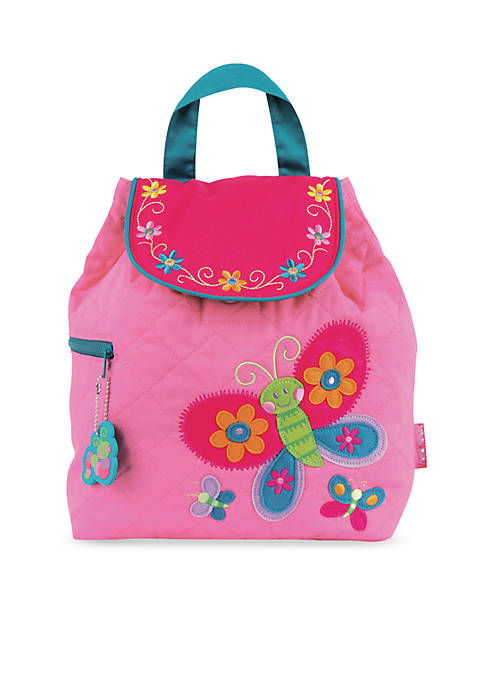 Quilted Backpack, Butterfly Purple