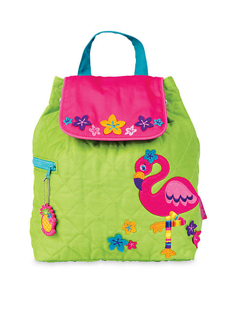 Quilted Backpack, Flamingo