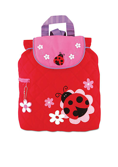 Quilted Backpack, Ladybug