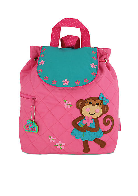 Quilted Backpack, Monkey Girl