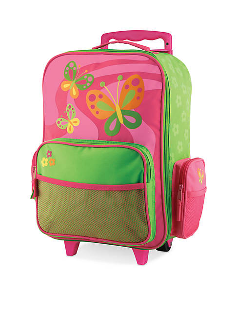 Stephen Joseph Classic Rolling Luggage Butterfly