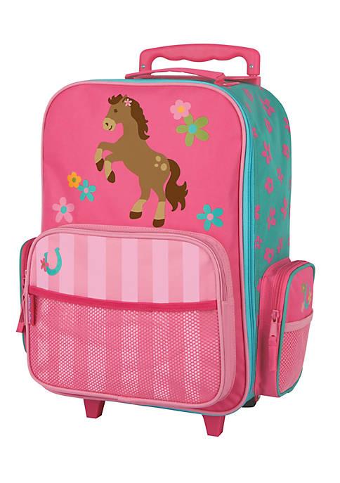 Stephen Joseph Classic Rolling Luggage Girl Horse