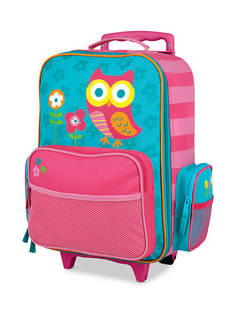 Stephen Joseph Classic Rolling Luggage Owl - Teal