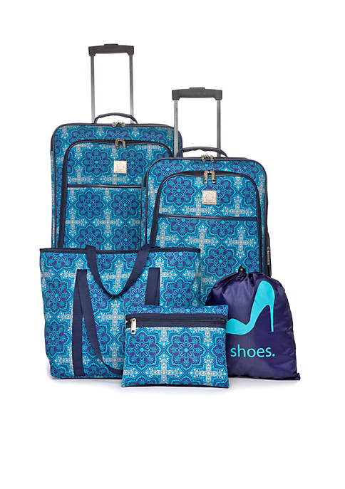 Modern. Southern. Home.™ Moroccan Medallion 5-Piece Luggage Set