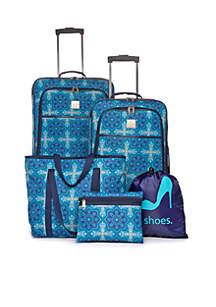 Moroccan Medallion 5-Piece Luggage Set