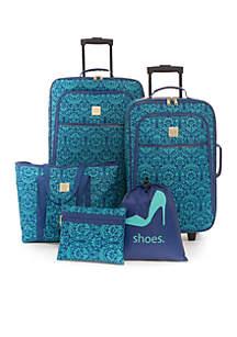 5-Piece Damask Luggage Set