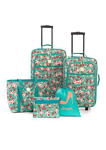 Ditsy Place 5-Piece Luggage Set