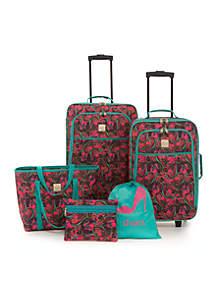 Whisp Paisley 5-Piece Luggage Set