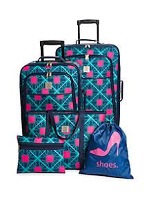 Clover Lattice 5-Piece Luggage Set
