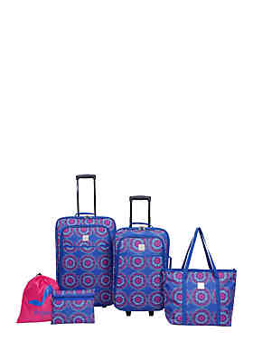 9dbc8c7f79 Modern. Southern. Home.™ Medallion Delta Blue and Pink Luggage Set 5- ...